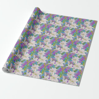 Lilies and Iris Wrapping Paper