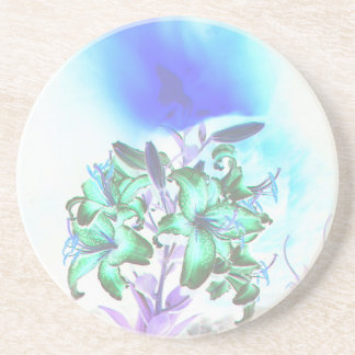 Lilies and Smoke Beverage Coaster