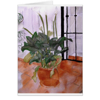 Lilies and Terracotta Card