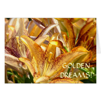 LILIES CARDS Golden Dreams Lovely Lady Cards