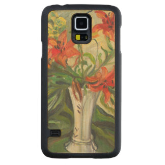 Lilies Carved Maple Galaxy S5 Case
