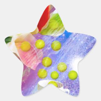 Lilies drop tennis balls to celebrate . star sticker