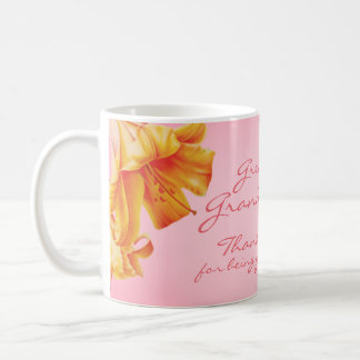 Lilies fine art greatest grandma pink mug