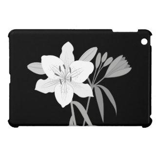 Lilies Illustration in Monochrome iPad Mini Case