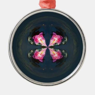 Lilies in the globe christmas ornament