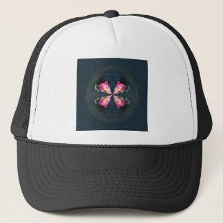 Lilies in the globe trucker hat