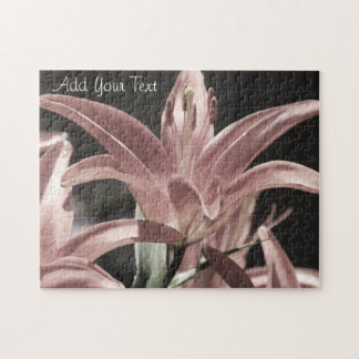 Lilies-Muted Tones by Shirley Taylor Jigsaw Puzzle