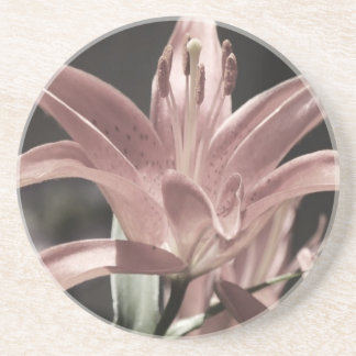 Lilies-Muted Tones Drink Coasters