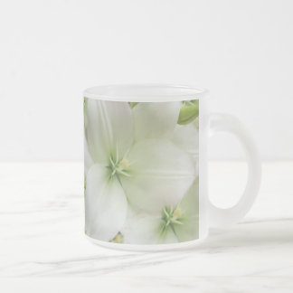 Lilies of love_ 10 oz frosted glass coffee mug