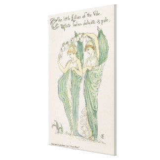 Lilies of the Vale, from Flora's Feast, 1901 (colo Canvas Print
