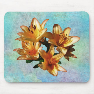 Lilies on Pastel Mouse Pad