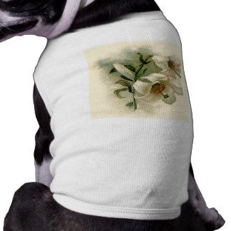 Lilies Sleeveless Dog Shirt