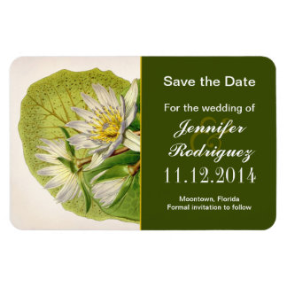 lilies white blossoms save the date magnets