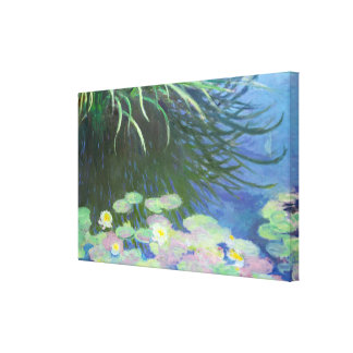 Lilies with Tall Grasses Reflections Claude Monet Canvas Print