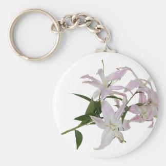 LiliesSmall051409 Basic Round Button Key Ring