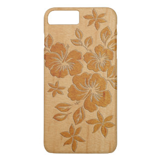 Lilikoi Hibiscus Hawaiian Faux Wood iPhone 8 Plus/7 Plus Case