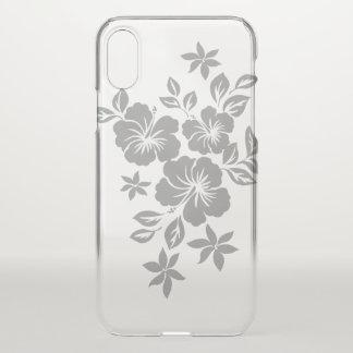 Lilikoi Hibiscus Hawaiian Floral Silver iPhone X Case