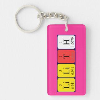 Lilith periodic table name keyring Single-Sided rectangular acrylic key ring