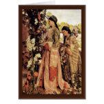 Lilium Auratum By Lewis John Frederick</ Greeting Card