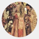 Lilium Auratum By Lewis John Frederick</ Round Stickers