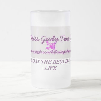 LILL MISS GUDY TWO SHUZ FROSTED GLASS MUG