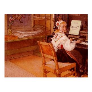 Lillanna Playing Mozart Postcard