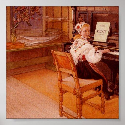 Lillanna Playing Mozart Print