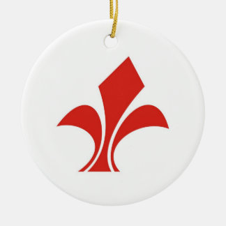 lille town city flag france country christmas ornament