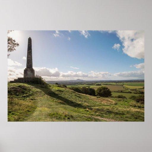 Lilleshall Monument, overlooking Telford & Wrekin Poster