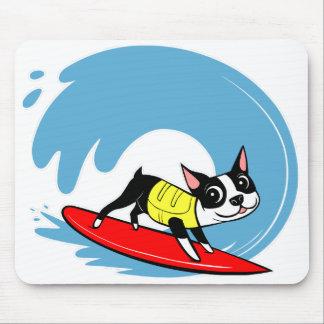 Lilli Chin Surfing Boston Mouse Pad