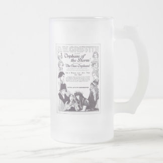 Lillian & Dorothy Gish Orphans of the Storm Frosted Glass Mug