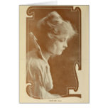 Lillian Gish 1915 silent movie actress portrait Greeting Card