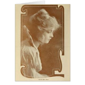 Lillian Gish 1915 silent movie actress portrait Greeting Card