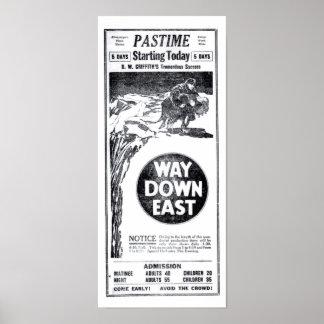 Lillian Gish Richard Barthelmess silent film 1922 Poster