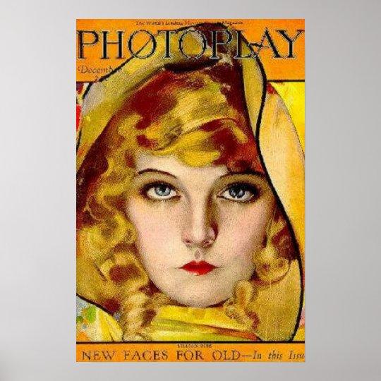 Lillian Gish Silent Film Star Vintage Poster