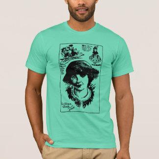 Lillian Gish Silent Movie Actress Caricature T-Shirt