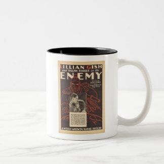 Lillian Gish The Enemy movie ad Two-Tone Mug