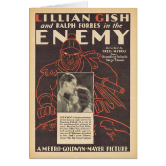 Lillian Gish The Enemy movie advertisement Greeting Card