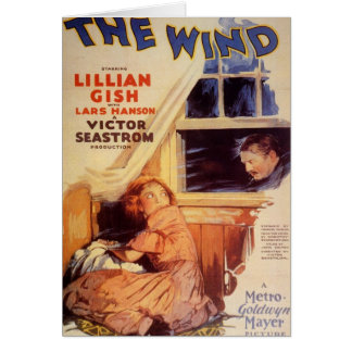 Lillian Gish The Wind movie poster Greeting Card