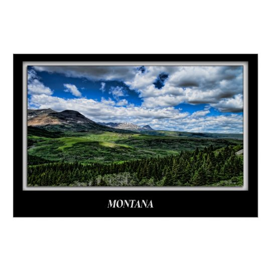 Lillian Photography HDR Montana Poster