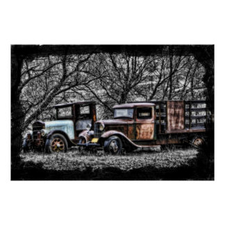Lillian Photography HDR Old trucks Poster