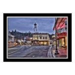 Lillian Photography HDR Placerville Main Street Poster