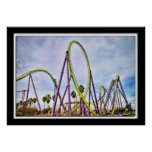 Lillian Photography HDR Roller Coaster Posters