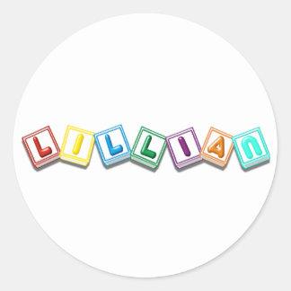 Lillian Round Stickers