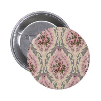 """""""Lillie"""" Wallpaper Design- Pink 6 Cm Round Badge"""