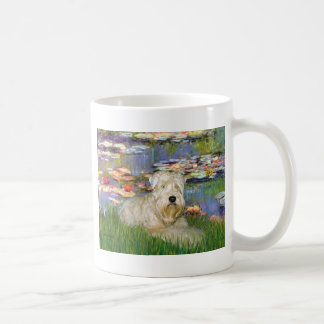 Lillies 2 - Wheaten Terrier 1 Coffee Mug