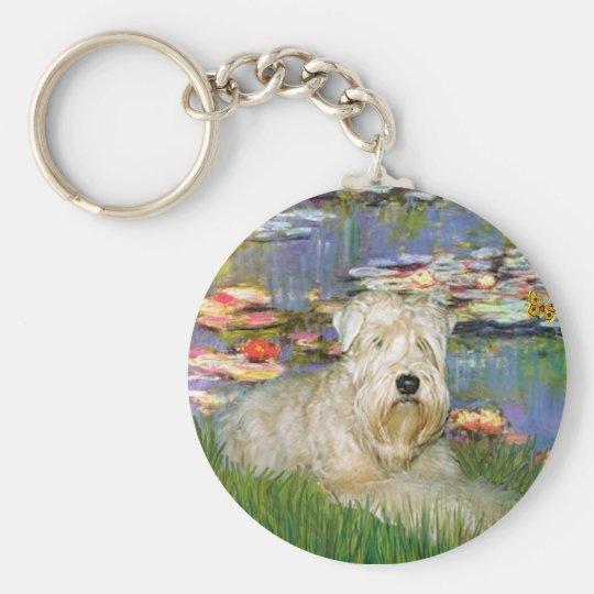 Lillies 2 - Wheaten Terrier 1 Key Ring