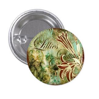 Lillies 3 Cm Round Badge