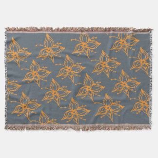 Lillies All Around Throw Blanket