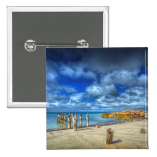 Lillies Beach | Wybalena, Flinders Island 15 Cm Square Badge